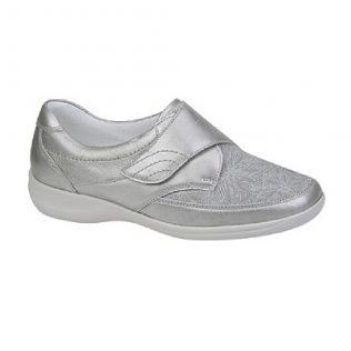 Waldlaufer stretch leather velcro shoe