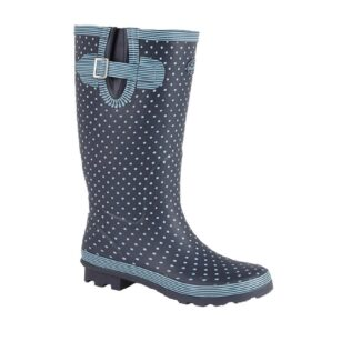 StormWells W404LC Navy/Pale Blue Polka dots